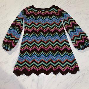 Baby Gap chevron sweater dress 4t zig zag hem